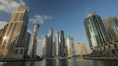 Dubai Marina timelapse, United Arab Emirates - stock footage