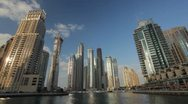Stock Video Footage of Dubai Marina timelapse, United Arab Emirates