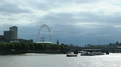 River Thames in summer Stock Footage
