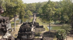 Rainforest and Baphuon, famous temple in Cambodia, Southeast Asia Stock Footage