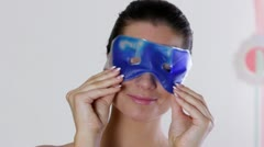 Woman with gel mask Stock Footage
