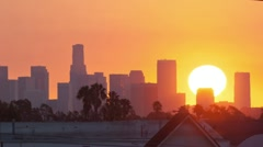 Los Angeles sunrise, timelapse. Stock Footage