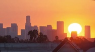 Stock Video Footage of Los Angeles sunrise, timelapse.