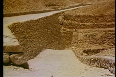 A walkway down toward the tomb of King Tutankhamen in Egypt 108103 Stock Footage