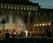 Opera singer with orchestra. #01 Stock Footage