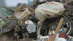 Japan Tsunami Aftermath- Pile of Wreck Stock Footage