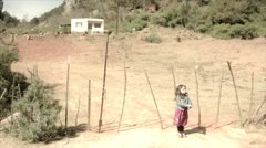 Child in Field Stock Footage