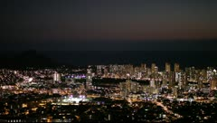 Waikiki Night View Stock Footage
