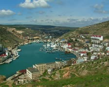 View of the bay of Balaklava, Crimea, Ukraine. #15 Stock Footage