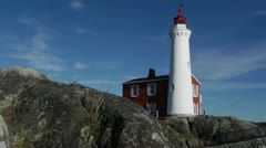 Fisgard Lighthouse Stock Footage