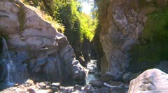 Gorge and river, very cool wide shot Stock Footage