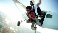 Skydiving - stock footage