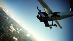 Skydiving sport - stock footage