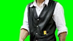 Man with gun Stock Footage