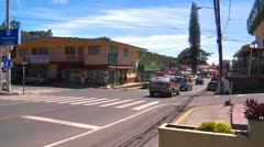 Boquete Panama, downtown Stock Footage