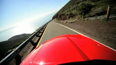 Cabriolet Pacific Highway San Francisco - stock footage