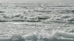 crack in the ice - stock footage
