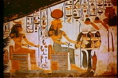 A painting from a tomb in the Valley of the Kings 108128 Stock Footage