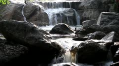 Motion of waterfall - stock footage