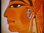 Close-up of a face in a tomb painting, The Valley of the Kings 108135 Stock Footage