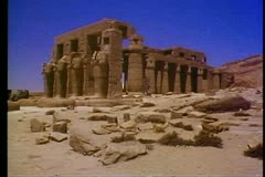 The Valley of the Kings, the Ramasseum Temple 108136 Stock Footage