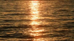 Waikiki Beach Ocean Sunset Closeup Stock Footage