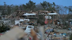 Japan Tsunami Aftermath- Store Destroyed Stock Footage