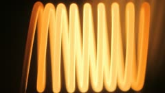 The incandescent lamp spiral. Macro. Stock Footage