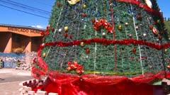 Christmas tree Boquete Panama tilt Stock Footage