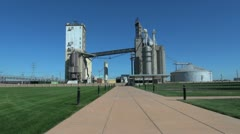 Missouri East St Louis grain elevator complex s Stock Footage