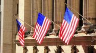 American Flags Stock Footage