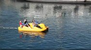 Stock Video Footage of Redondo beach, California marine ocean Recreation - pedal boat