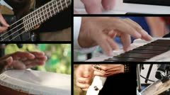 Music, 6 clips sequence Stock Footage