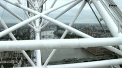 London Eye view from - stock footage