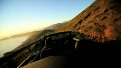 Time lapse Open Top Cabriolet Pacific Highway  - stock footage