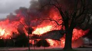 Amid the Force of Nature - House Fire Disaster Stock Footage