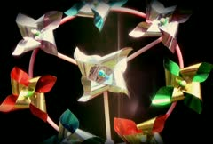 Retro Cine - Spinning Garden Wind toy Psychedelic Stock Footage