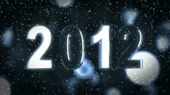 Year 2012 - stock footage