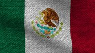 Stock Video Footage of Mexico cotton denim   flag for apparel footage
