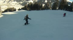 Snowbarder in Bad Gastein Stock Footage