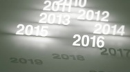 Stock Video Footage of Glowing Numbers Timeline: 2000s and 2010s HD