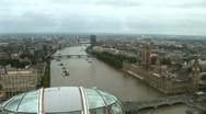 Westminster, London, aerial shot Stock Footage