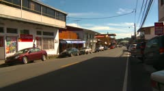 Boquete Panama, traffic in town centre Stock Footage