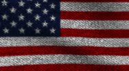 Stock Video Footage of USA cotton denim   flag for apparel footage