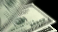 Counting Dollars - stock footage