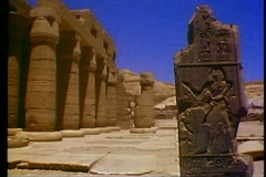 The Valley of the Kings, The Ramasseum temple 108139 Stock Footage