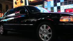 Times square limousine rolling Stock Footage