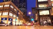Stock Video Footage of Downtown time-lapse