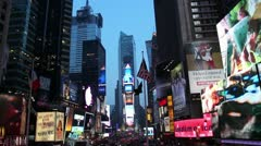 Times square street live Stock Footage
