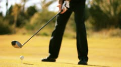 Golf golfer win winner boss competition pleasure relaxing weekend joy Stock Footage